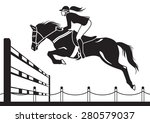 jockey ride horse   vector... | Shutterstock .eps vector #280579037