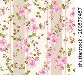 spring flowers wallpaper over... | Shutterstock .eps vector #280579457