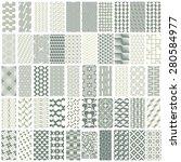 50 geometric seamless pattern... | Shutterstock .eps vector #280584977