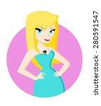 a blonde woman | Shutterstock .eps vector #280591547