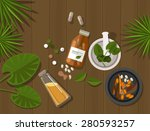 herbal natural medication... | Shutterstock .eps vector #280593257