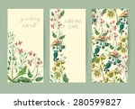 vector floral seamless pattern. ... | Shutterstock .eps vector #280599827
