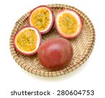 passion fruit isolated on white ... | Shutterstock . vector #280604753