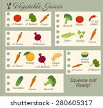recipe of vegetable juices in... | Shutterstock .eps vector #280605317