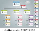 color card organizational chart ... | Shutterstock .eps vector #280612133