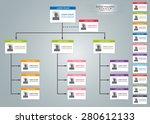 color card organizational chart ... | Shutterstock .eps vector #280612133