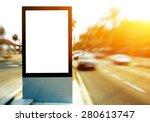 blank billboard with copy space ... | Shutterstock . vector #280613747