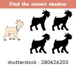 find the correct shadow  goat  | Shutterstock .eps vector #280626203