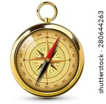 old compass with windrose.... | Shutterstock .eps vector #280644263