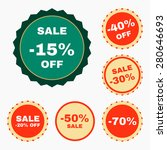 set of discount gorgeous badges.... | Shutterstock .eps vector #280646693