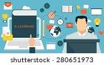 e learning  online education... | Shutterstock .eps vector #280651973