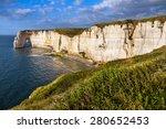 Falaise D'amont Cliff At...
