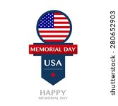 happy memorial day badge and... | Shutterstock .eps vector #280652903