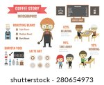 coffee infographic  stat and... | Shutterstock .eps vector #280654973