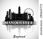 modern manchester city skyline... | Shutterstock .eps vector #280665773