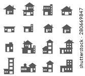 building icon set 2 | Shutterstock .eps vector #280669847