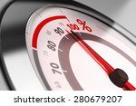 percent meter with the needle... | Shutterstock . vector #280679207