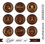coffee labels set  vector  in... | Shutterstock .eps vector #280686233