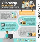 branding infographics set with... | Shutterstock .eps vector #280709747