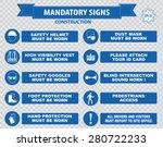 construction site mandatory... | Shutterstock .eps vector #280722233