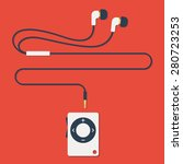 stylish modern mp3 player with... | Shutterstock .eps vector #280723253