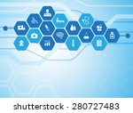 medical background and icons to ... | Shutterstock .eps vector #280727483