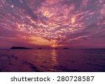 sunset on the beach. resort | Shutterstock . vector #280728587