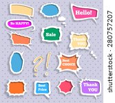 set of 3d color speech bubbles | Shutterstock .eps vector #280757207