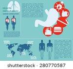 health medical info infographic ... | Shutterstock .eps vector #280770587