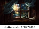 magic window with fairy forest | Shutterstock . vector #280772807