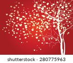 abstract vector heart shaped... | Shutterstock .eps vector #280775963