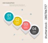 modern vector abstract step... | Shutterstock .eps vector #280786757