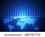vector digital global... | Shutterstock .eps vector #280787753