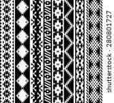 black and white tribal navajo... | Shutterstock .eps vector #280801727