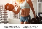 strong fitness woman... | Shutterstock . vector #280827497