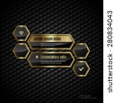 black and gold design layout.... | Shutterstock .eps vector #280834043