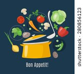 cooking info graphics. let's... | Shutterstock .eps vector #280856123
