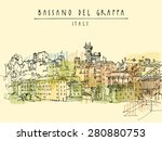 old center in bassano del... | Shutterstock .eps vector #280880753