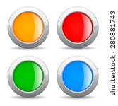 round color web buttons set | Shutterstock .eps vector #280881743