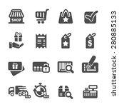 shopping icon set 6  vector... | Shutterstock .eps vector #280885133