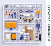 plastic model kit for concept... | Shutterstock .eps vector #280891667