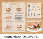 how to make cupcake recipe food ... | Shutterstock .eps vector #280899647