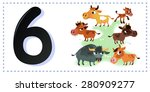 collection number for kids ... | Shutterstock .eps vector #280909277