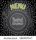 tableware  pic for menu | Shutterstock .eps vector #280909547