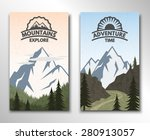 two banners on the theme of... | Shutterstock .eps vector #280913057