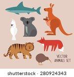 vector illustration of cute...   Shutterstock .eps vector #280924343
