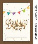 birthday party celebration... | Shutterstock .eps vector #280931603