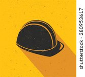 safety hat design on yellow... | Shutterstock .eps vector #280953617