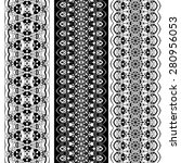 seamless vintage lace pattern.... | Shutterstock . vector #280956053