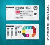 football ticket card modern... | Shutterstock .eps vector #280956653
